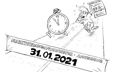 Marktstammdatenregister: Letzte Chance zur Registrierung!